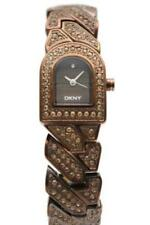 New DKNY Steel Bronze Plating Crystals Women Bracelet Watch NY4230 D $150