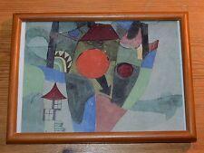 PAUL KLEE Landschaft mit untergehender Sonne Farbdruck im Holzrahmen Art Print