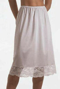 Half Slip 32 inch long All Around Lace anti-static nylon for non cling S-3X