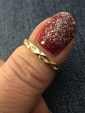 Tone Detailed Band Fashion Ring Gorgeous Ring Size N Gold