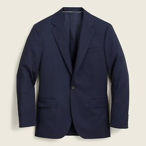 New JCREW $298 Size 40 R Ludlow Classic-Fit Suit Jacket in Italian Chino Navy
