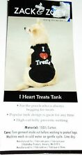 "ZACK & ZOEY ""I HEARTS TREATS"" Tank Size XSMALL Black New With Tags"