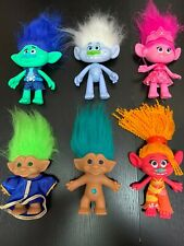 Trolls Dreamworks Lot of 4 Toy Figures Dolls Hasbro And 2 Vintage.