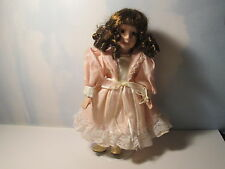 "Unknown Brand 12"" Porcelain Victorian Doll on Stand"