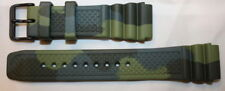 KHS Tactical Watches Silicone Armband Camouflage Olive PVD Gr.20 | KHS.EBDC3.20