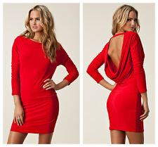 Honor oro rojo sin espalda con vendaje Bodycon vestido Milly £ 75 UK 8 10 (S, EU 36-38)