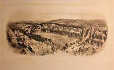 Antique Circa 1912 Dartmouth College Panoramic Aerial Birds Eye View Print 36X24
