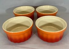 Swiss Pro Ramekins Bakeware Cookware Set of 4 Orange Red Ombre