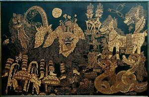 Large Batik Painting, 1975 Made Wianta (celebrated Indonesian artist).