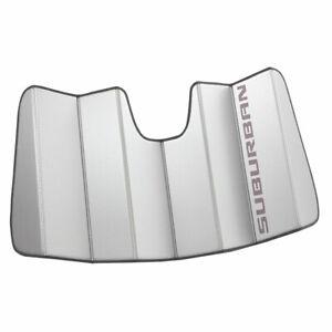 2021-2022 Chevrolet Suburban Windshield Sunshade Pkg 84446397 Silver w/ Script
