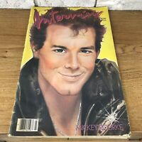1985 MARCH INTERVIEW MAGAZINE - MICKEY ROURKE COVER - NICE ADS Chanel Vintage OG