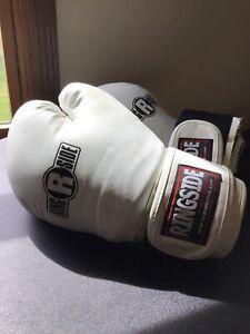 Ringside BG15 Boxing White Training Gloves 16oz L/XL