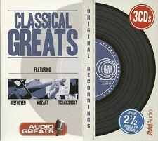 CLASSICAL GREATS - 3 CD BOX SET - BEETHOVEN * MOZART & TCHAIKOVSKY