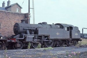 Class 4 2-6-4T 42587 at Low Moor shed 23rd July  6x4 Quality British Rail Photo