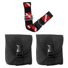 112cm Dive Belt Webbing with Quick-Release Buckle and Black 2 Weight Pocket