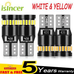 2/10× T10 CAR BULBS LED SIDE LIGHT WHITE W5W 501 ERROR FREE CANBUS VS XENON 12V