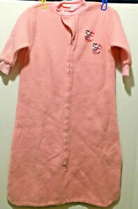 Vintage Carters 1-piece Fleece Sleep Gown w/bunnies ONE SIZE