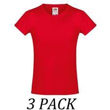 Vêtements rouge à manches courtes pour fille de 2 à 16 ans en 100% coton