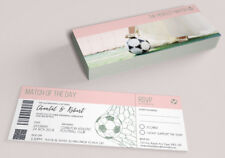 50 World Cup Football Footy Sport Shabby Chic Wedding Ticket Invitations