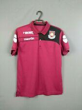 West Ham United Jersey M Polo Shirt Football Macron ig93
