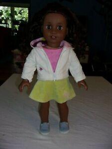 """American Girl 18"""" Truly Me Doll Brown Eyes Curly Black Brown Hair Dark Skin"""