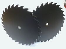"2 Clock Sawblade backgrounds, paintable 7""black plastic,Cast iron look! USA made"