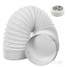 """3m Vent Hose Pipe PVC Duct 5"""" Extension for Haier Air Conditioner Conditioning"""