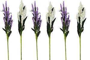 Deko Blumen Lavendel Seidenblumen Kunstblumen Floristik wie echt Far.Lila & Weiß