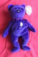 Beanie Babies PRINCESS DIANA Bear 1997 RARE/RETIRED w/ spacing error