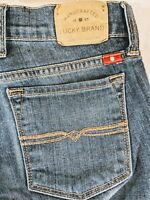 LUCKY BRAND Charlie Baby Boot Womens Medium Wash Jeans Tag Size 00/24 Ankle