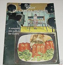 Knox Gelatin On-Camera Recipes Vintage Cookbook 1963