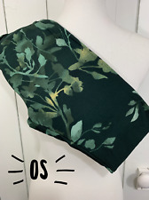 Lularoe OS One Size Leggings Green Floral  NEW