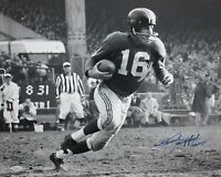 Frank Gifford HOF Autographed 16x20 B&W Running Photo- JSA W Authenticated