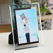 "5""/6""/7""/8""/10"" Glass Transparent Picture/Photo Frame Home Bedroom Desk Decor"