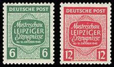 EBS Germany 1945 Soviet Zone West Saxony - Leipzig Samples Show Mi. 124-5Y MNH**