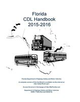 PAPER COPY: COMMERCIAL DRIVER MANUAL FOR CDL FLORIDA - ENGLISH OR SPANISH