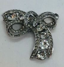 Crystal Silver Vintage Costume Brooches/Pins