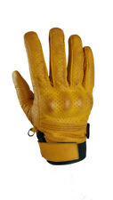 Torc Fairfax Gold Goat Leather Mid Length Retro Street Motorcycle Gloves Medium