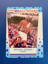 MICHAEL JORDAN 1989-90 FLEER STICKER # 3 BULLS HOF