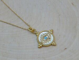 Evil Eye Necklace, Greek jewelry, 14k Gold Filled, Minimalist jewelry, Pendant