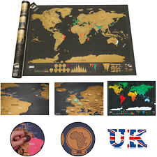 Buy scratch world maps atlases ebay small scratch off world map deluxe edition travel log journalposterwalldecore gumiabroncs