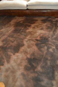 NEW Cowhide Rug Suede Leather Brown black large western cowboy tie dyed cowgirl