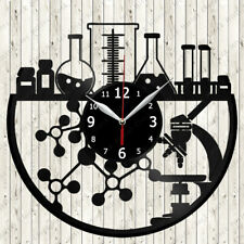 Chemisty Vinyl Record Wall Clock Decor Handmade 2581