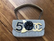 CHANEL Tweed Camellia Shoulder Bag Clutch Ladies Handbag Stunningly Unique