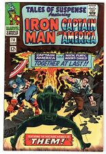 Tales of Suspense #78 Featuring Captain America & Iron Man, Very Fine Condition