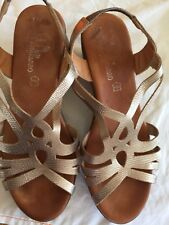 Copper Coloured Wedge Sandals size  39