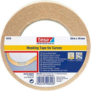 tesa 4319 Masking Tape for Curves, 19mm x 25m