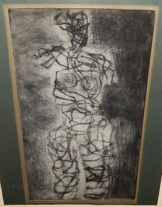 "THEREOM V.FURGOL ""COPPER LADY"" LIMITED EDITION ETCHING DATED 1969"