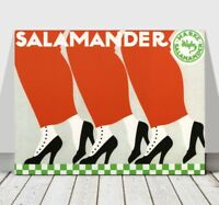 VINTAGE SHOE AD CANVAS ART PRINT POSTER -Salamander Shoes - Advdertising -36x24""