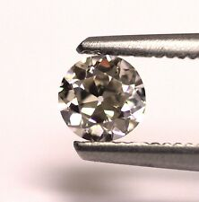 GIA Certified .44ct SI1 K European round Diamond 4.96-5.05x2.71mm estate vintage